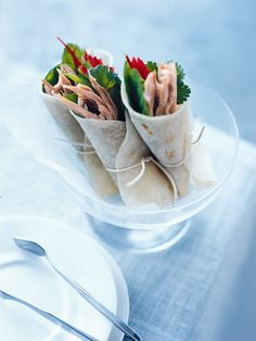 duck and snow pea pancakes from donna hay