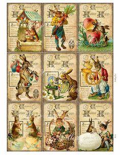 Vintage EASTER EGG Digital Collage Sheet Printable by GalleryCat