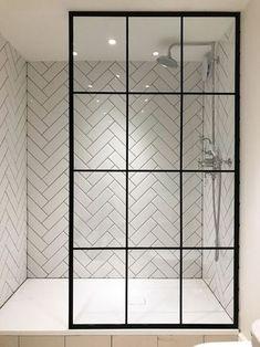 17 Most Popular Modern Bathroom Shower Tile Design Ideas - futurisme Modern Bathroom Tile, Bathroom Tile Designs, Bathroom Interior Design, Bathroom Ideas, Master Bathroom, Minimalist Bathroom, Simple Bathroom, Bathroom Inspiration, Modern Interior