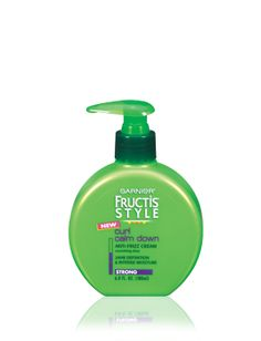 Garnier Fructis Style Curl Calm Down Anti-Frizz Cream. My curls are sufficiently sedated by just one or two pumps of this product.