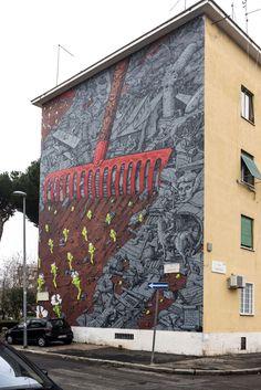 StreetArt Roma: El Renacer | Liqen | 2014 | Zona: San Basilio | #art #streetart #roma