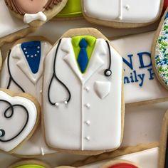 white coat science doctor cookies medical purdycookies.com