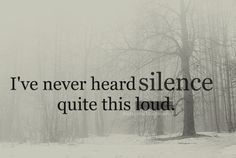 ive never heard silence quite this loud.