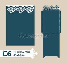 Descargar - Envolvente de felicitación de plantilla con el patrón calado tallado — Ilustración de stock #108095688