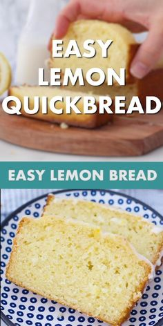 You'll love this easy Lemon Quick Bread Recipe. It's soft, moist and packed with lemon flavor. It's made in one bowl with three simple steps. #lemonbread #quickbreadrecipe Quick Bread Recipes, Easy Cake Recipes, Frosting Recipes, Low Carb Recipes, Cooking Recipes, Recipe Videos, Food Videos, Lemon Bread, Chocolate Cake Recipe Easy