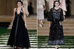 Todas las tendencias de la Alta Costura en París  Escamas de piel, pedrería, tweed, capas de tul con hilos metálicos y joyas aplicadas. Foto: EFE, AFP