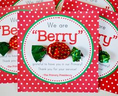"Craft Sew Create: Primary Teacher ""Berry"" Thank You FREE Printable!"