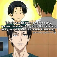 In Replace Novel Midorima's Unlucky Day,. Takao also use that headband sometimes. XD try to imagine mido wearing headband xD its cuteeee?? RightXD . . . I feel like every Takao or Midorima facts that I shared it always comes to midotaka all the way.. XD Ohhh well They're canon anyway. #takao #takaokazunari #kazunaritakao #knb #kurokonobasuke #kurokonobasuke_facts #kurokonobasket #kurobas#shutoku #midorima #midorimashintarou #thebasketballwhichkurokoplays