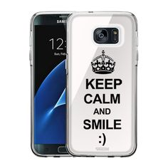Samsung Galaxy S7 Edge KEEP CALM and Smile on White Slim Case