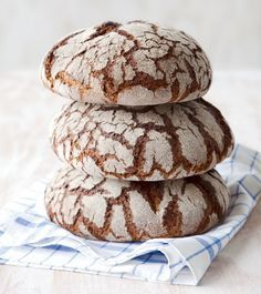 Rye bread. Straight from a baking oven. Melting butter.