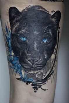 Strong Tattoos, Black Tattoos, Medusa Tattoo Design, Tattoo Designs, Elefant Tattoo, Herren Hand Tattoos, Jaguar Tattoo, Black Panther Tattoo, Skyline Tattoo