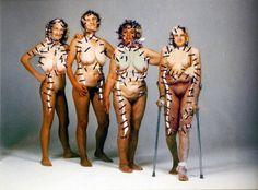 Annegret Soltau Body Painting, Painting Art, Photomontage, Collage Art, Surrealism, Digital Prints, Wonder Woman, Princess Zelda, Textiles