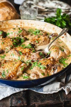 Easy Chicken Parmesan, Easy Chicken Recipes, Keto Chicken, Roasted Chicken, Turkey Recipes, Grilled Chicken, Baked Chicken, Vino Chardonnay, White Wine Chicken