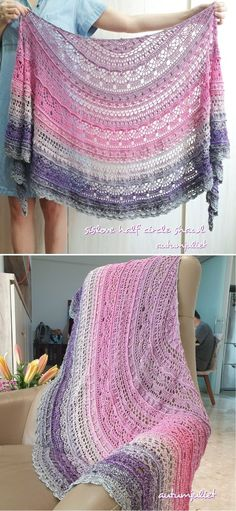 Crochet Shawl Diagram, Crochet Shawl Free, Crochet Wrap Pattern, Crochet Shawls And Wraps, Crochet Motif Patterns, Crochet Designs, Crochet Lace, Crochet Summer, Easy Crochet
