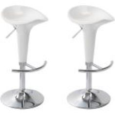 These bar stools have a sleek, modern design, and can be adjusted in height using the built in gas lift mechanism.