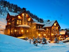 Park city Utah...I would love to own a house where I can ski out of my front door....Just to visit in the winter :)