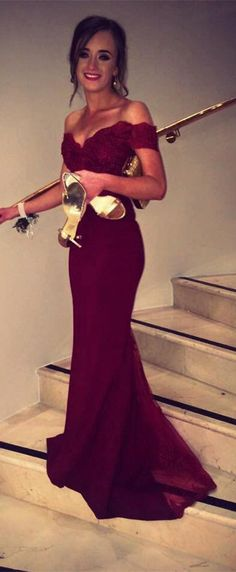 burgundy prom dress evening dress bridesmaid dress wedding party dress, 2017 prom dress, burgundy long bridesmaid dress, off the shoulder bridesmaid dress, dancing dress