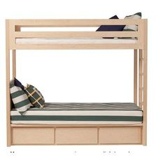 Urbangreen Thompson Twin Bunk Bed with Storage Size: Twin, Wood Veneer: Maple, Finish: Washed