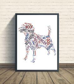 Dog personalised art print  beagle print beagle by pienosudesigns