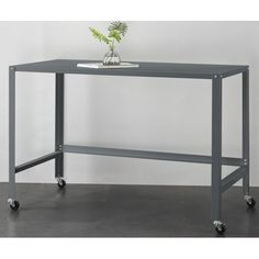 Mainstays Metal Console Rolling Desk, Multiple Colors - Walmart.com