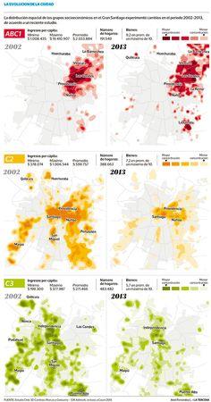 Estudio muestra cómo ha cambiado el mapa social de Santiago Chile| Tendencias | LA TERCERA