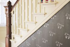 DIY custom stenciled wall