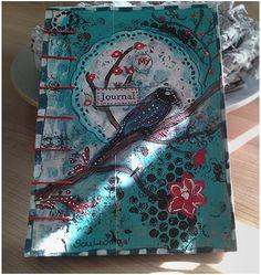Junk Book Blue Bird von SoulwingsHeaven auf Etsy, €25.00 Junk Journal, Blue Bird, Etsy, Handmade, Inspiration, Handmade Books, Cardboard Paper, To Draw, Books