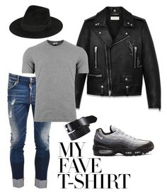"""""""A New Yorker"""" by molauren on Polyvore featuring NIKE, Yves Saint Laurent, Dsquared2, Dolce&Gabbana, Diesel, men's fashion, menswear and MyFaveTshirt"""