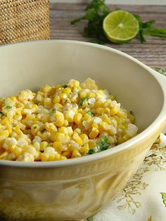 Chili Lime Mexican Corn Salad by adishofdailylife: This simple and delicious salad can be used either as an appetizer or side dish for any Mexican dinner or your next cookout. #Salad #Corn #Lime #Mexican
