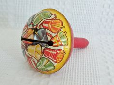 Vintage tin or metal noisemaker from 1950s bell by GraceYourNest, $9.00