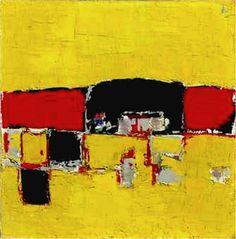 Nicolas de Stael - Paysage rouge et noir (1951-1952)