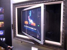 Hide Your Flat Panel Tv Behind A Work Of Art