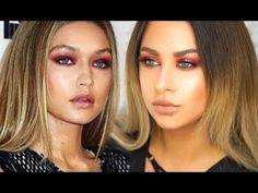 Gigi Hadid makeup tutorial - Cranberry eyes