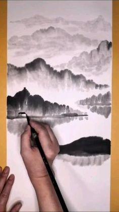 Art Drawings Beautiful, Art Drawings Sketches Simple, Pencil Art Drawings, Watercolor Paintings For Beginners, Watercolor Art Lessons, Watercolour, Art Painting Gallery, Art Tutorials, Crafts