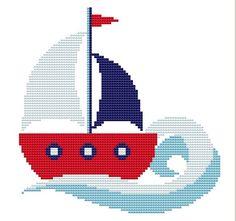 Etamin evlilik çarpıişi kanaviçe gemi