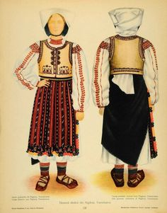 Romanian folk costumes are visually very impressive and some of the finest European folk costumes. Traditional Art, Traditional Outfits, Romanian Men, Folk Fashion, Medieval Clothing, Free Black, Folk Costume, Fashion History, Costumes For Women
