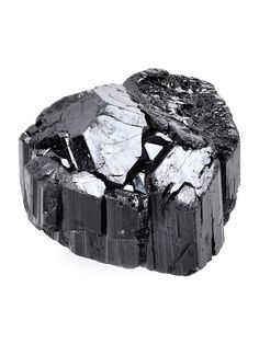 "Lustrous terminated top grade black tourmaline crystal from Brazil. Specimen measures .98"" X 1.43"" X 1.21"". Shop here: http://www.exquisitecrystals.com/minerals/tourmaline"