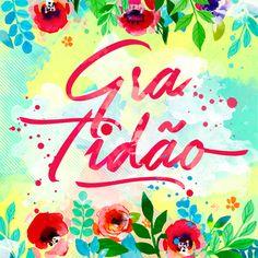 Calligraphy, typography, thankfulness, gratidão, palavra, lettering, tipografia, calgrafia, flores, flower, aquarela, watercolor, larissa grace,