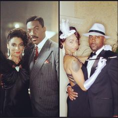 Mark Miller as Quick and Nicole Turner as Dominique Larue.Check out more of Mogul's Harlem Nights Spread at http://ireadmogulmag.com/project/behind-the-scenes-of-harlem-night-fashion-spread/