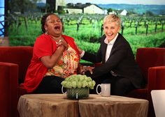 Ellen loves surprising Lisa Jarmon!  Love this lady! SO funny and I just love her positivity and energy.