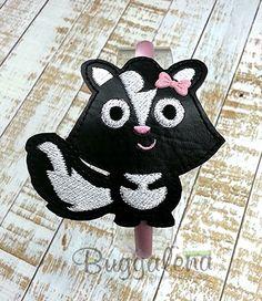 Skunk BuggaBand Headband Slider Embroidery Design by Buggalena