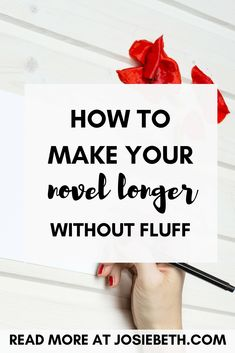Are you an author who writes too short? Learn if your story is a too-short novel or just a shorter story, why you aren't writing enough, and practical writing tips to add to your word count without writing fluff here!