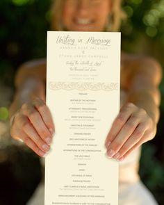 Custom Wedding Program, Sweet Love, Printable Program. $45.00, via Etsy.