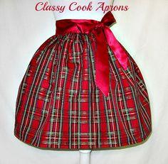 Hey, I found this really awesome Etsy listing at https://www.etsy.com/listing/210029715/holiday-half-apron-tartan-plaid-metallic