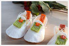 Orange Baby Booties