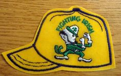"""Notre Dame Fighting Irish 4.5"""" Cap Logo Embroidered Patch. Iron-On"""