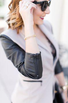 Blame it on Mei Miami Fashion Blogger 2016 Thanksgiving Look Leather Sleeve Jacket Lace Cami Tank YSL Velvet Handbag Cat Eye Miu Miu Sunglasses Fall Look