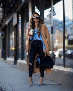 Winter outfits 2019 trendy cold outfits for teen girls cardigans for work dressy. - Winter outfits 2019 trendy cold outfits for teen girls cardigans for work dressy for school women g - Cute Outfits With Jeans, Outfit Jeans, Casual Winter Outfits, Winter Fashion Outfits, Look Fashion, Outfits For Teens, Stylish Outfits, Spring Outfits, Jean Shirt Outfits