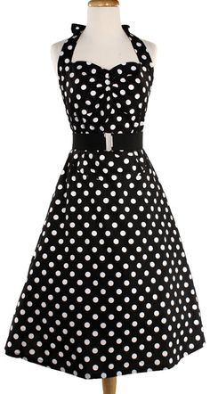 50s Halter Dress - Rockabilly Polka Dot  $34.99