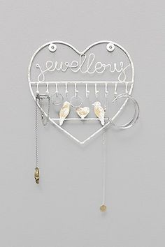 Two Bird Jewellery Stand in White - Urban Outfitters